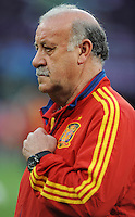 Football - Spain Training - Donbass Arena, Donetsk, Ukraine - 22/6/12..Spain coach Vicente del Bosque during training..Mandatory Credit: Action Images / Henry Browne..Livepic