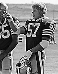 San Francisco 49ers training camp August 3, 1982 at Sierra College, Rocklin, California.  San Francisco 49ers linebacker Dan Bunz (57).
