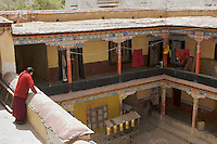 The interior of The Sera Monastery in Lhasa, Tibet Autonomous Region, China. Despite the reopening for Chinese tourists on May 1 after the March 14 riots, most of the monasteries are closed, such as the Jokhang Monastery in the Bakuo Street area, all touristic spots in Bakuo Street are blocked off from non Tibetan residents entry and under heavy surveillance by army and plain clothed agents..04 May 2008