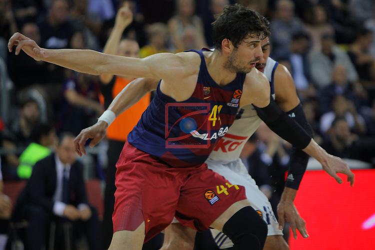 Turkish Airlines Euroleague 2016/2017.<br /> Regular Season - Round 8.<br /> FC Barcelona Lassa vs R. Madrid: 63-102.<br /> Ante Tomic.