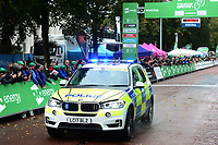 Picture by Simon Wilkinson/SWpix.com - 10/09/2017 - Cycling - OVO Energy Tour of Britain - Stage 8 Worcester to Cardiff - final stage<br /> Finish Cardiff - POLICE BMW