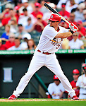 10 March 2010: St. Louis Cardinals' infielder Mark Hamilton in action during a Spring Training game against the Washington Nationals at Roger Dean Stadium in Jupiter, Florida. The Cardinals defeated the Nationals 6-4 in Grapefruit League action. Mandatory Credit: Ed Wolfstein Photo