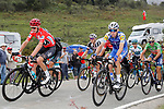The peloton including race leader Chris Froome (GBR) Team Sky, David de La Cruz (ESP) Quick-Step Floors and Vincenzo Nibali (ITA) Bahrain-Merida in action during Stage 18 of the 2017 La Vuelta, running 169km from Suances to Santo Toribio de Li&eacute;bana, Spain. 7th September 2017.<br /> Picture: Unipublic/&copy;photogomezsport | Cyclefile<br /> <br /> <br /> All photos usage must carry mandatory copyright credit (&copy; Cyclefile | Unipublic/&copy;photogomezsport)