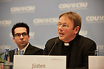 9.11.2016 BERLIN. Fachgespr&auml;ch Staat, Kirchen, Religionen: Religi&ouml;se Vielfalt in Deutschland &ndash; Bereicherung oder Herausforderung?<br /><br />Pr&auml;lat Dr. Karl J&uuml;sten<br /><br />Podium (v.l.): Prof. Dr. Bekim Agai, D&uuml;zen Tekkal, Prof. Dr. Christoph Markschies, Ahmad Mansour, Cemile Giousouf MdB, Daniel Botmann, Pr&auml;lat Dr. Karl J&uuml;sten, Prof. Dr. Christian Hillgruber, Dr. Franz Josef Jung MdB