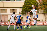 Seattle, WA - Sunday, September 24th, 2017: Sydney Leroux Dwyer during a regular season National Women's Soccer League (NWSL) match between the Seattle Reign FC and FC Kansas City at Memorial Stadium.