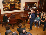 Stephen Schwartz and Michael McCorry Rose attends the DGF Salon with Stephen Schwartz at the Uterberg Residence on May 1, 2017 in New York City.