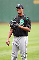 June 13th 2008:  Pitcher Juan Rafael of the Dayton Dragons, Class-A affiliate of the Cincinnati Reds, during a game at Stanley Coveleski Regional Stadium in South Bend, IN.  Photo by:  Mike Janes/Four Seam Images