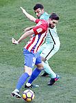 Atletico de Madrid's Yannick Ferreira Carrasco (l) and FC Barcelona's Rafinha Alcantara during La Liga match. February 26,2017. (ALTERPHOTOS/Acero)