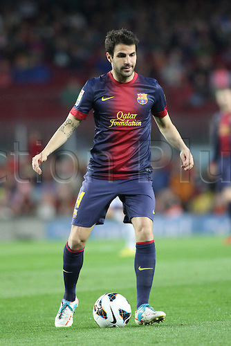 19.05.2013 Barcelona, Spain. Cesc Fabregas during the Spanish La Liga game between Barcelona and Real Valladolid from the Nou Camp.