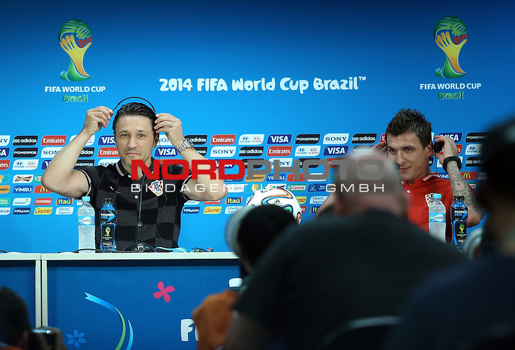 17.06.2014., Manaus, Brazil - Press Conference of Croatian national football team ahead of tomorrow match World Cup, which will be in the Arena Amazonia in Manaus between Croatia and Cameroon. At the conference, the journalists questions were answered by Niko Kovac and Mario Mandzukic <br /> Foto &copy;  nph / PIXSELL / Sajin Strukic