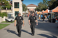 Campus Safety<br /> Explore Occidental - Fall Preview Day, Friday, November 9, 2018.<br /> Fall open house to give prospective students and their families the opportunity to explore Occidental with tours of campus, student and faculty-led discussions, the ability to sit in on a class, and to learn what it means to be an Oxy Tiger.<br /> (Photo by Marc Campos, Occidental College Photographer)