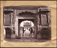 BNPS.co.uk (01202 558833)<br /> Pic: Bonhams/BNPS<br /> <br /> Entrance to the Golden Temple in Amritsar.<br /> <br /> Plain tales from the Punjab - unseen archive of Indian photographs compiled by Rudyard Kiplings father revealed.<br /> <br /> A remarkable photo album compiled by John Lockwood Kipling documenting his time in Northern India in the late 19th century has emerged for sale for &pound;150,000.<br /> <br /> Lockwood, father of the celebrated writer Rudyard, lived in India between 1865 and 1893.<br /> <br /> An acclaimed artist in his own right, he took numerous eye-catching snaps of glorious monuments and bustling street scenes around Lahore, the Punjab and Amritsar.<br /> <br /> The photos date from around 1888, when he was working at the Mayo Art school in Lahore and as curator at the Lahore Museum.<br /> <br /> At that time his son Rudyard was a little known cub reporter for the Pioneer newspaper in Allahabad ,who was just about to publish 'Plain tales from the Hills', launching his literary career.