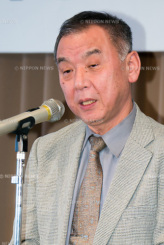 Monta Hayakawa, professor of International Research Center for Japanese Studies speaks to the audience during a press conference to promote ''Shunga'', an exhibition of Japanese erotic art, at the Foreign Correspondents Club of Japan on May 21, 2015, Tokyo, Japan. The exhibition is organized with the collaboration of museums in Japan, Britain and other European countries, and showcases 120 shunga paintings which will be displayed together for the first time. Shunga is a Japanese erotic art, which was produced between 1600 and 1900, and continues to influence manga, anime and Japanese tattoo art. The actual exhibition will be held from September 19th to December 23rd at the Eisei-Bunko Museum. (Photo by Rodrigo Reyes Marin/AFLO)