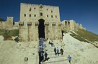 SYRIA, Aleppo, citadel in the Ancient City of Aleppo, a UNESCO World Heritage Site since 1986 / SYRIEN Aleppo, alte Zitadelle in der Altstadt, die zum UNESCO Welterbe zaehlt