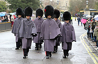 Guardsmen outside Windsor Castle in Windsor, UK on Saturday February 3rd 2018<br /> CAP/ROS<br /> <br /> CAP/ROS<br /> &copy;ROS/Capital Pictures