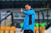 Sutton manager Paul Doswell gives the thumbs up during Cambridge United vs Sutton United , Emirates FA Cup Football at the Cambs Glass Stadium on 5th November 2017