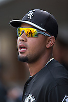 Jose Abreu (79) of the Chicago White Sox prior to the exhibition game against theCharlotte Knights at BB&T Ballpark on April 3, 2015 in Charlotte, North Carolina.  The Knights defeated the White Sox 10-2.  (Brian Westerholt/Four Seam Images)