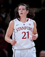 STANFORD, CA - January 22, 2011: Sara James of the Stanford women's basketball team during their game against USC at Maples Pavilion. Stanford beat USC 95-51.