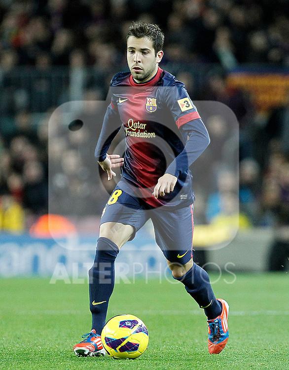 FC Barcelona's Jordi Alba during La Liga match.December 16,2012. (ALTERPHOTOS/Acero)