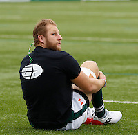 Ealing's Mark Bright in the warm up during the Greene King IPA Championship match between Ealing Trailfinders and Bedford Blues at Castle Bar , West Ealing , England  on 29 October 2016. Photo by Carlton Myrie / PRiME Media