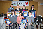 WINNERS: The Green School was well represented at the Lee Strand -kerry Garda Youth Acheivement awards on Friday nighyt in Ballyroe Heights Hotel, Tralee, FRront l-r: Aki O'Rourke(Merit Award), Helen Hayes (Teacher) and Donal Walsh(Certificate of Distinction). Back l-r: Alex O'Mahony, Hassan Ali, peter Murphy and Jordan Flood (Merit Awards)............. . ............................... ..........