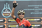 Vincenzo Nibali (ITA) Bahrain-Merida at sign on before the start of Stage 6 of the 53rd edition of the Tirreno-Adriatico 2018 running 153km from Numana to Fano, Italy. 12th March 2018.<br /> Picture: LaPresse/Fabio Ferrari | Cyclefile<br /> <br /> <br /> All photos usage must carry mandatory copyright credit (&copy; Cyclefile | LaPresse/Fabio Ferrari)