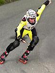 1. Inline Downhill Weltmeisterschaft, Zell am See (Austria) Franco Innocente (Swiss), Kurve