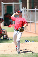 Danny Reynolds, Los Angeles Angels 2010 extended spring training..Photo by:  Bill Mitchell/Four Seam Images.