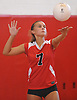 Colette Maloney #7 of Mineola serves during a Nassau County varsity girls volleyball match against Seaford at Mineola High School on Thursday, Sept. 22, 2016. Seaford won 3-1.