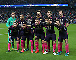 Barcelona team group during the Champions League Group C match at the Etihad Stadium, Manchester. Picture date: November 1st, 2016. Pic Simon Bellis/Sportimage