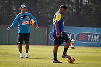 SÃO PAULO,SP,19 JULHO 2013 - TREINO CRFUZEIRO -  O tecnico MArcelo Oliveira durante treino do Cruzeiro  no CT  do Palmeiras na Barra Funda, zona oeste de Sao Paulo,na manhã sexta feira.O time se prepara para o jogo contra o São Paulo no sabado (20).FOTO ALE VIANNA - BRAZIL PHOTO PRESS.