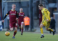 Fleetwood Town's Ashley Hunter &amp; Bradford City's Lewis O'Brien chases down the ball<br /> <br /> Photographer David Shipman/CameraSport<br /> <br /> The EFL Sky Bet League One - Bradford City v Fleetwood Town - Saturday 9th February 2019 - Valley Parade - Bradford<br /> <br /> World Copyright &copy; 2019 CameraSport. All rights reserved. 43 Linden Ave. Countesthorpe. Leicester. England. LE8 5PG - Tel: +44 (0) 116 277 4147 - admin@camerasport.com - www.camerasport.com