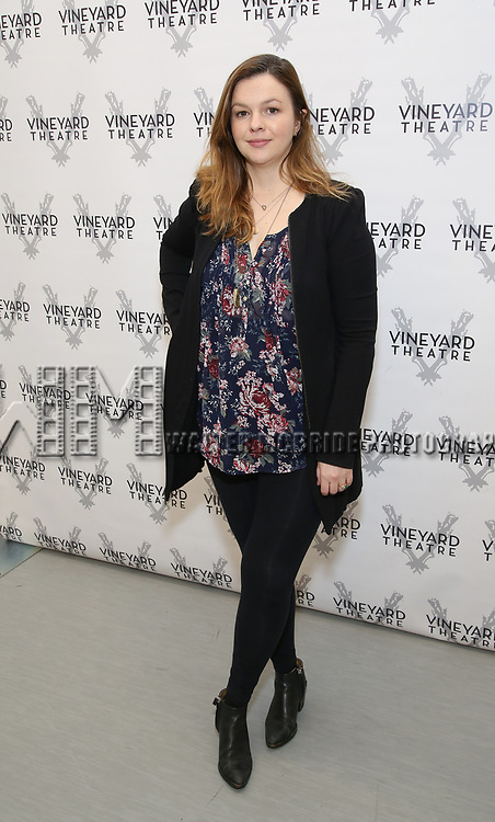 Amber Tamblyn attends the photo call for The Vineyard Theatre production of 'Can You Forgive Her' at the New 42nd Street Studios on April 3, 2017 in New York City.