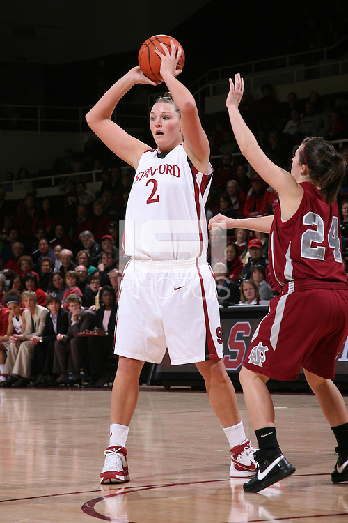 28 December 2007: Jayne Appel during Stanford's 105-47 win over Washington State at Maples Pavilion in Stanford, CA.
