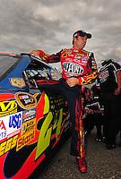 Sept. 19, 2008; Dover, DE, USA; Nascar Sprint Cup Series driver Jeff Gordon during qualifying for the Camping World RV 400 at Dover International Speedway. Mandatory Credit: Mark J. Rebilas-