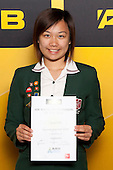 Badminton Girls winner Anona Pak from Westlake Girls High School. ASB College Sport Young Sportsperson of the Year Awards held at Eden Park, Auckland, on November 24th 2011.