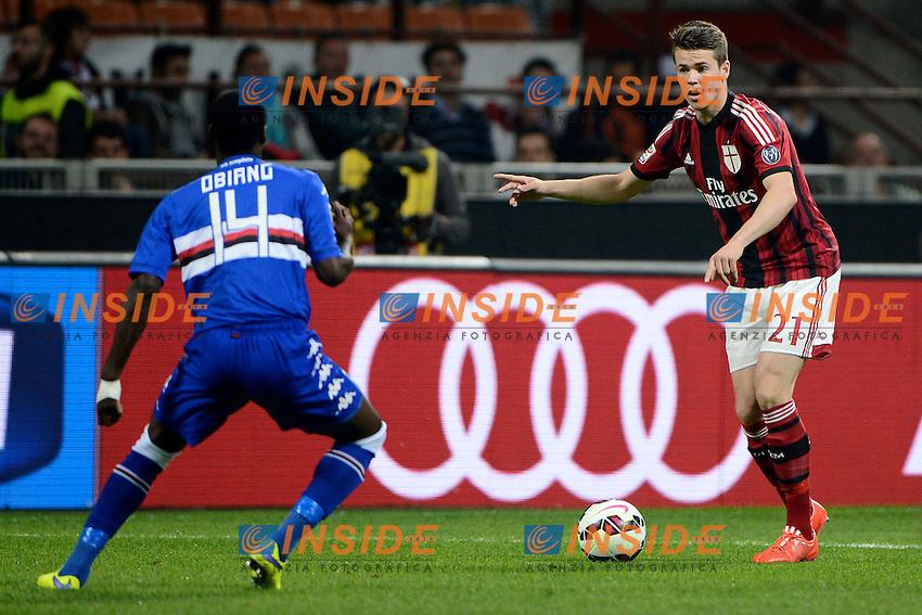 Marco van Ginkel Milan<br /> Milano 12-04-2015 Stadio Giuseppe Meazza - Football Calcio Serie A Milan - Sampdoria. Foto Giuseppe Celeste / Insidefoto