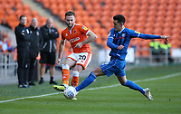 Blackpool's Oliver Turton and Rochdale's Harrison McGahey<br /> <br /> Photographer Stephen White/CameraSport<br /> <br /> The EFL Sky Bet League One - Blackpool v Rochdale - Saturday 6th October 2018 - Bloomfield Road - Blackpool<br /> <br /> World Copyright &copy; 2018 CameraSport. All rights reserved. 43 Linden Ave. Countesthorpe. Leicester. England. LE8 5PG - Tel: +44 (0) 116 277 4147 - admin@camerasport.com - www.camerasport.com