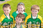 GO KERRY: Young Kerry supports enjoying the Grand Parade in Ballyheigue on Sunday l-r: Comarc and Graham Slattery, Ballyheigue, Aoife and Kevin O'Donnell, Ballydonoghue.    Copyright Kerry's Eye 2008
