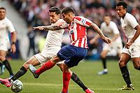 7th March 2020; Wanda Metropolitano Stadium, Madrid, Spain; La Liga Football, Atletico de Madrid versus Sevilla; Angel Martin Correa (Atletico de Madrid) gets his shot towards goal