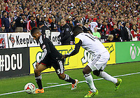 WASHINGTON, D.C - March 08 2014: D.C. United vs the Columbus Crew in an MLS match at RFK Stadium, in Washington D.C. Columbus won 3-0.