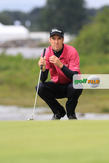 Ross Fisher lines up his putt ont he forth green on day three of the 3 Irish Open, at the Killarney Golf and Fishing Club, Killarney, Ireland.Picture Fran Caffrey/www.golffile.ie.