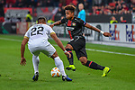 08.11.2018, BayArena, Leverkusen, Europaleque, Vorrunde, GER, UEFA EL, Bayer 04 Leverkusen (GER) vs. FC Zuerich (SUI),<br />  <br /> DFL regulations prohibit any use of photographs as image sequences and/or quasi-video<br /> <br /> im Bild / picture shows: <br /> Kevin R&uuml;egg (FC Zuerich #22), im Zweikampf gegen  Leon Bailey (Leverkusen #9), <br /> <br /> Foto &copy; nordphoto / Meuter<br /> <br /> <br /> <br /> Foto &copy; nordphoto / Meuter