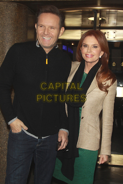 NEW YORK, NY - FEBRUARY 26: Mark Burnett and Roma Downey seen at NBC Studios in New York City on February 26, 2014. <br /> CAP/MPI/RW<br /> &copy;RW/ MediaPunch/Capital Pictures