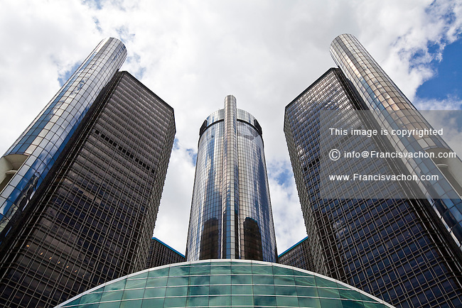 General Motors corporate headquarters is seen in Detroit Renaissance Center Saturday June 8, 2013. General Motors Company, Inc., commonly known as GM  is an American multinational automotive corporation.