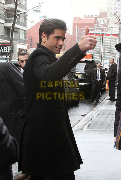 NEW YORK, NY - MARCH 4: John Stamos spotted leaving 'The View' in New York, New York on March 4, 2016. <br /> CAP/MPI/RMP<br /> &copy;RMP/MPI/Capital Pictures