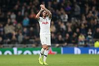 Toby Alderweireld of Tottenham Hotspur applauds the crowd after Tottenham Hotspur vs Olympiacos FC, UEFA Champions League Football at Tottenham Hotspur Stadium on 26th November 2019