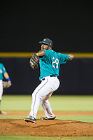 AZL Mariners relief pitcher Jamal Wade (29) delivers a pitch to the plate against the AZL Royals on July 29, 2017 at Peoria Stadium in Peoria, Arizona. AZL Royals defeated the AZL Mariners 11-4. (Zachary Lucy/Four Seam Images)