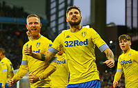 Leeds United's Mateusz Klich and Adam Forshaw celebrate Pontus Jansson's equaliser<br /> <br /> Photographer Alex Dodd/CameraSport<br /> <br /> The EFL Sky Bet Championship - Aston Villa v Leeds United - Sunday 23rd December 2018 - Villa Park - Birmingham<br /> <br /> World Copyright &copy; 2018 CameraSport. All rights reserved. 43 Linden Ave. Countesthorpe. Leicester. England. LE8 5PG - Tel: +44 (0) 116 277 4147 - admin@camerasport.com - www.camerasport.com