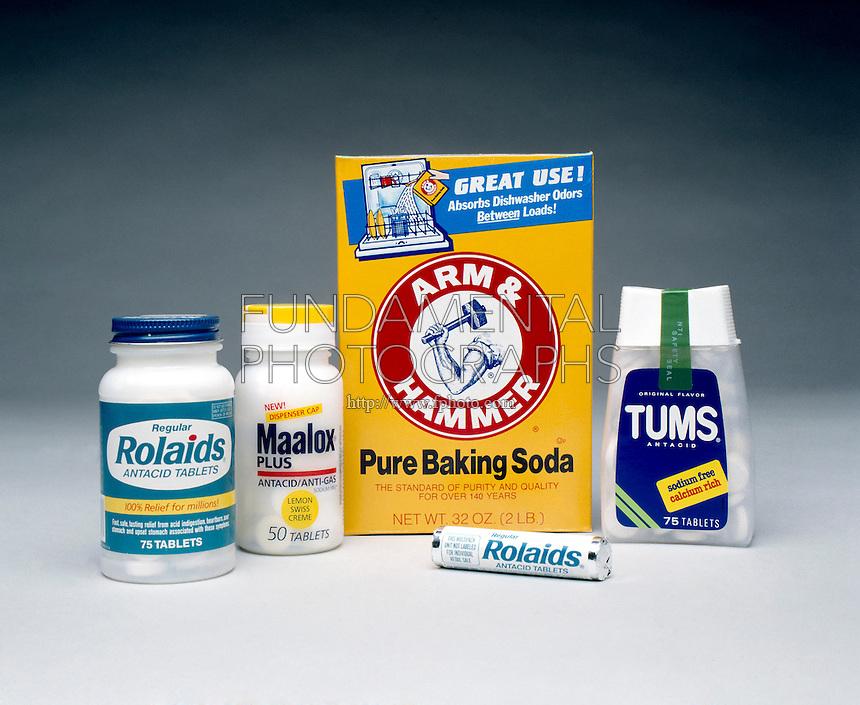 ANTACIDS:<br /> Tums/Rolaids/Maalox/Arm &amp; Hammer Baking Soda.